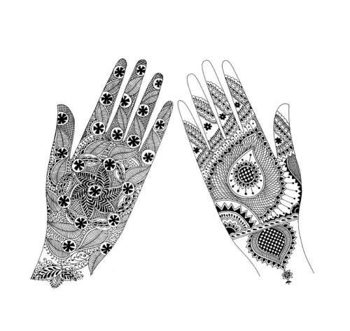 印度曼海蒂&海娜手绘纹身图案果子纹身有哪些风格?