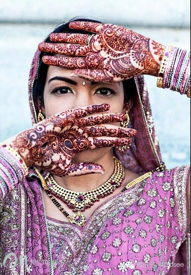 印度海娜体绘诱惑,中国姑娘们喜欢的临时果汁纹身艺术